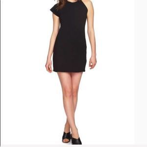1.State Black One-Sleeve Body-Con Dress